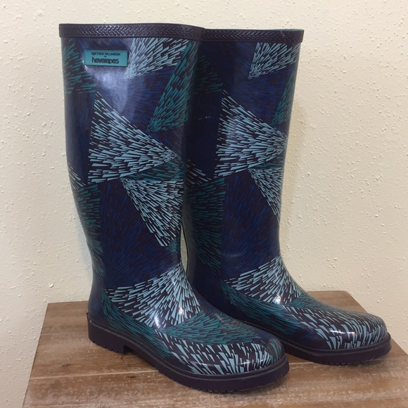 cfe9b920f4b1 Havaianas Shoes - Blue Havaianas Rainboots by Matthew Williamson